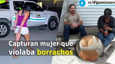 Mujer violaba borrachos y los dejaba hospitalizados