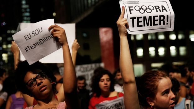 Brasileños en pie de guerra contra Temer