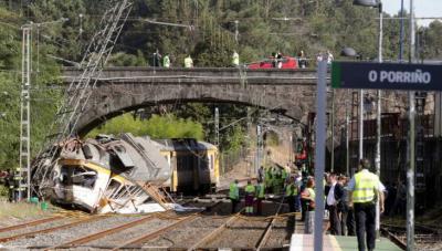 Tren descarrila en Galicia: 4 muertos y 47 heridos