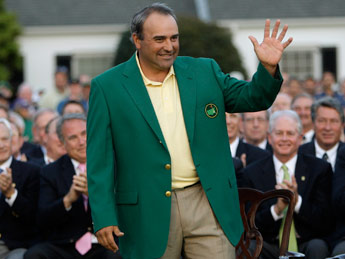 El mítico saco verde del golf se lo puso un argentino y le quedó muy bien