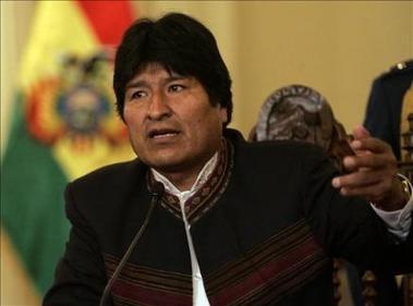 """Evo Morales dice que el """"eje del mal"""" lo conforman nueve países"""