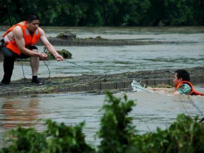 14 muertos en una riada en China