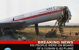 Se estrella otro avión: fue en Irán y hay 17 muertos y 19 heridos