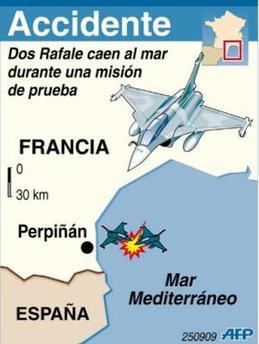 Brasil congela compra de aviones a Francia tras estrellarse dos aparatos y caer al mar Mediterráneo