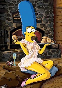 Las fotos secretas del desnudo de Marge Simpson para 'Playboy'