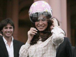 La presidenta argentina emuló a personaje de dibujo animado