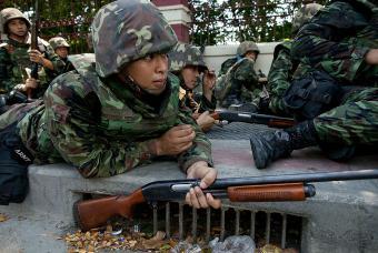 Bangkok se ha convertido en un campo de batalla