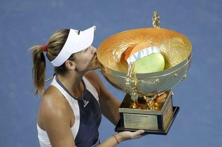 La española Garbiñe Muguruza gana el Abierto de China de tenis