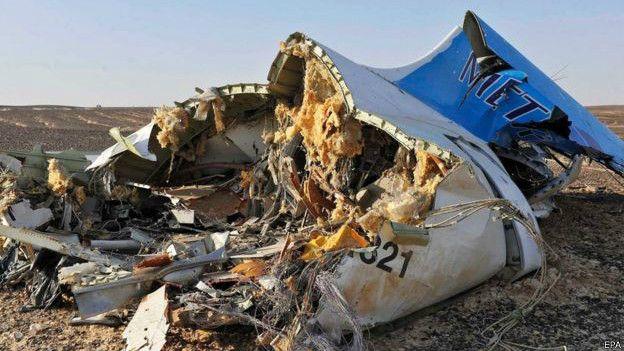 """""""Factores externos"""" causaron el accidente del avión ruso en Egipto, dice línea aérea"""
