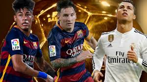 Finalistas al Balón de Oro de la FIFA: Cristiano Ronaldo, Messi y Neymar