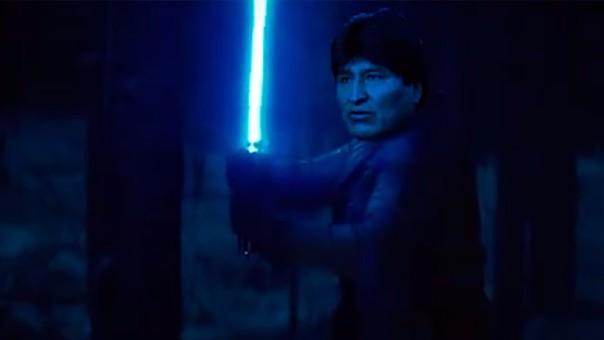 Evo Morales recurre a la fuerza de Star Wars para su campaña