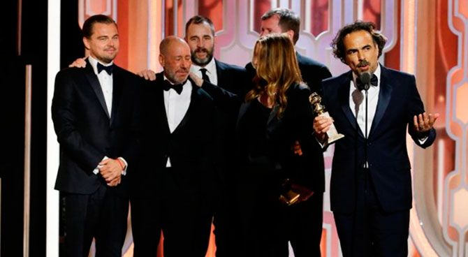 Leonardo DiCaprio y El Renacido arrasan en los Globos de Oro