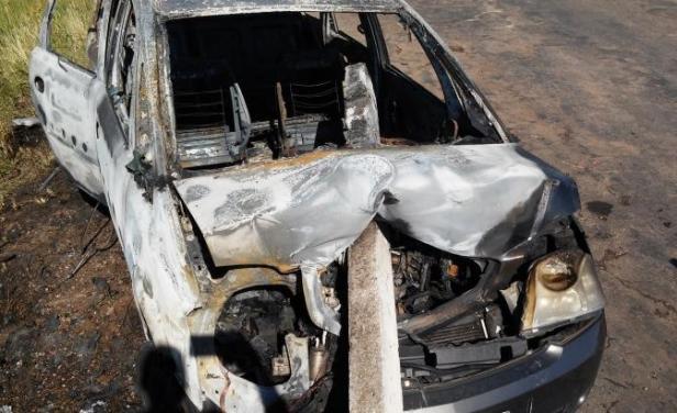 Brutal choque e incendio en Melo, pareja y bebé se salvaron de milagro