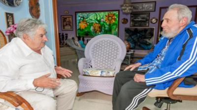 """Mujica se reunió con Fidel Casto y lo vio """"centelleante""""; ambos preocupados por el virus zika"""