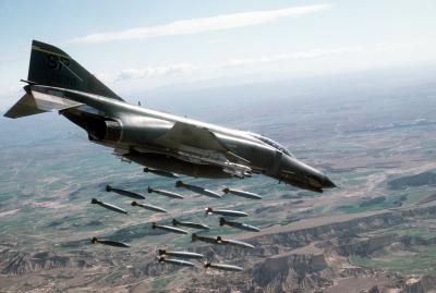 Aviones de combate de la Fuerza Aérea de EEUU en el espacio aéreo argentino