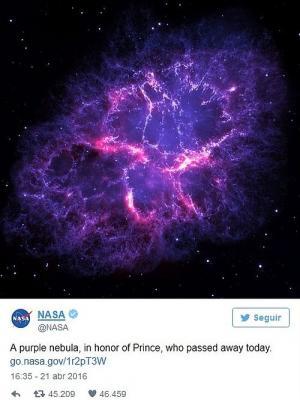 La NASA rinde homenaje a Prince con una galaxia