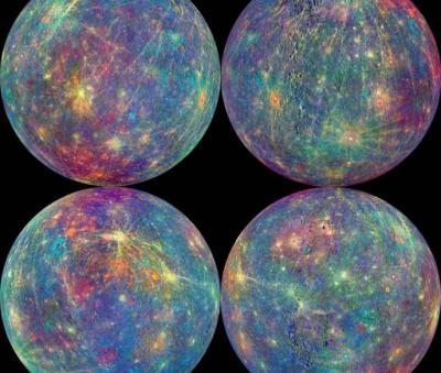 Mercurio muestra sus caras