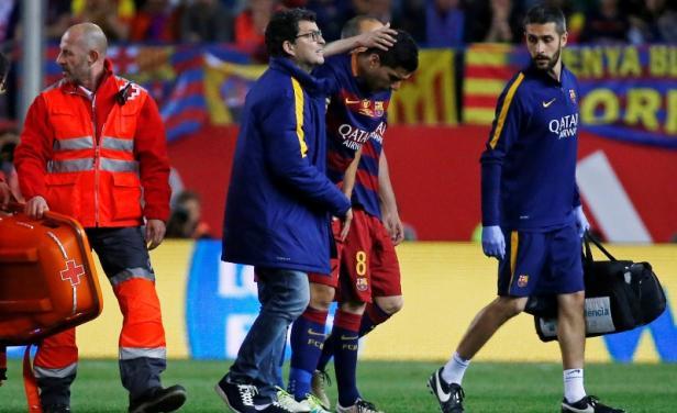 Suárez se lesionó y temen su ausencia en la Copa América