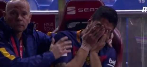 El llanto desconsolado de Luis Suárez