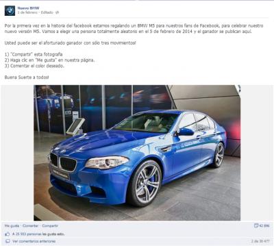 Las farsas de los concursos que regalan autos en Facebook