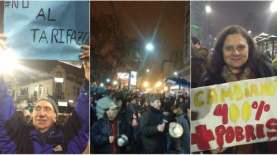 """Argentinos salieron a las calles de Buenos Aires para cacerolear en contra del """"tarifazo"""" de Macri"""
