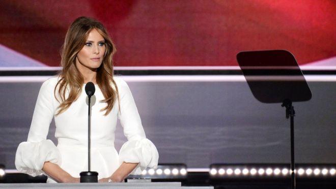 Redactora de Trump reconoce que hubo palabras de Michelle Obama en el discurso de la esposa del candidato