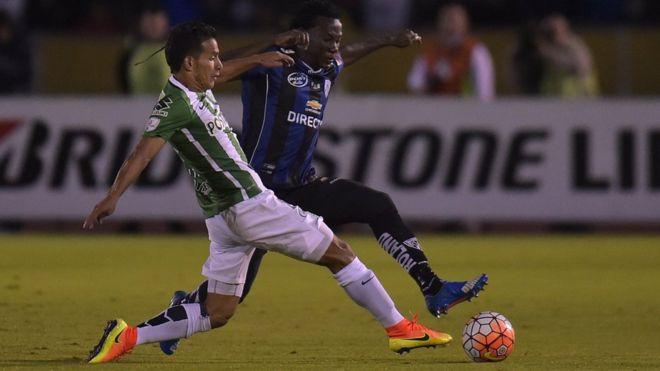 El matagigantes de Ecuador sueña con la Libertadores tras empatar 1-1 con el Atlético Nacional
