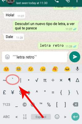 """Cómo usar el nuevo tipo de letra """"secreto"""" de WhatsApp"""