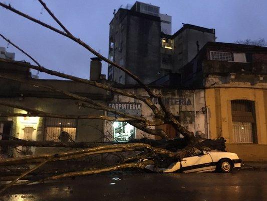 El balance del temporal, y no ciclón, que afectó a Uruguay