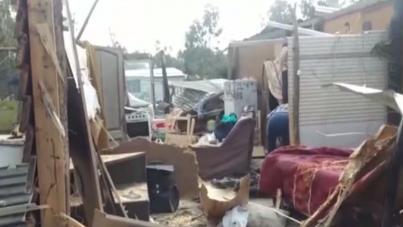 Mujer en CTI tras caída de árbol encima de su vivienda en Maldonado