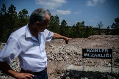 """El """"cementerio de traidores"""" que instaló el gobierno turco en Estambul"""