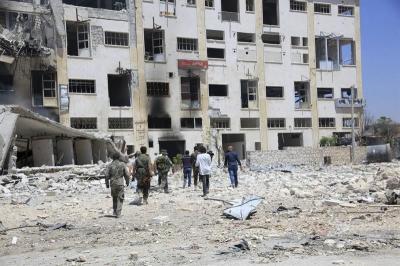 Bebés en incubadoras heridos en el bombardeo a un hospital de Siria
