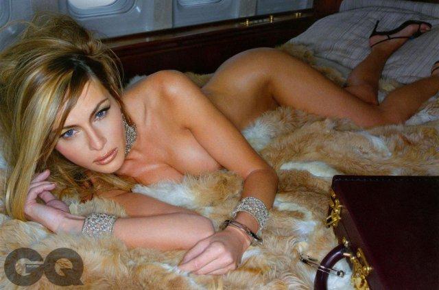 Publican fotos de Melania Trump desnuda