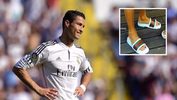 Cristiano Ronaldo se pintó las uñas de los pies
