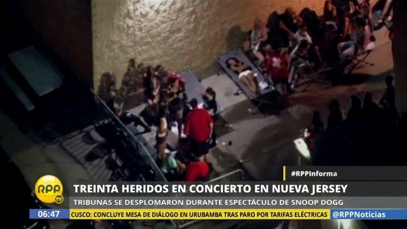 Más de 30 heridos al desplomarse tribuna durante concierto de raperos en EEUU