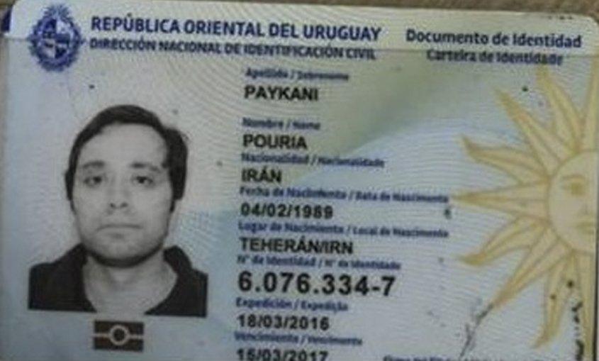 La cédula uruguaya del iraní que fue detenido en Brasil