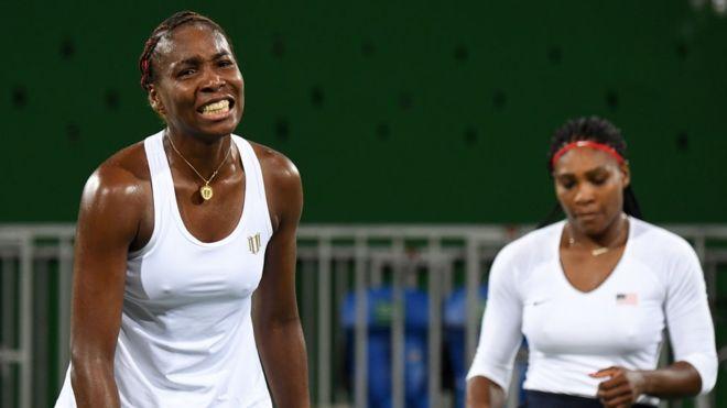 Las hermanas Venus y Serena Williams pierden por primera vez un partido olímpico de dobles en tenis