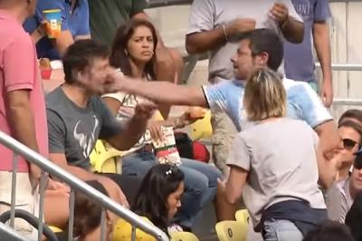 La insólita pelea en las tribunas que obligó a suspender el partido entre Del Potro y Sousa en Río