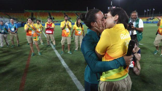 Enternecedora propuesta de matrimonio en el rugby femenino durante las Olimpiadas de Río