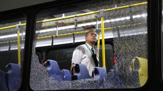Atacan un autobús con periodistas en las Olimpiadas de Río