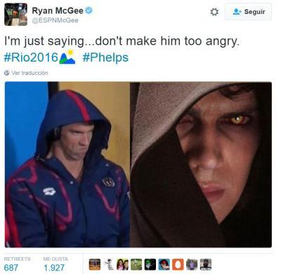 La mirada asesina de Phelps