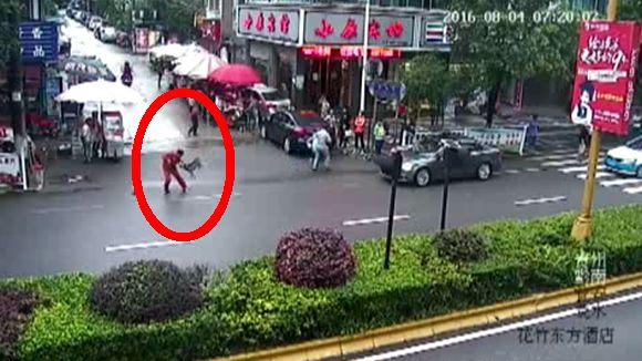 Pavor: Perro enfurecido atacó a 23 personas en China