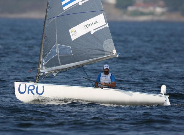 La vela uruguaya padece en Río