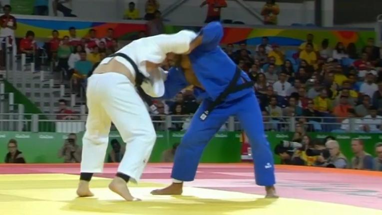 El judoca Aprahamian eliminado al toque en Rio