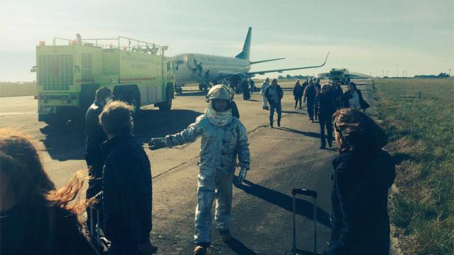 Amenaza de bomba en avión de Alas-U; cineasta uruguayo informó sobre el incidente