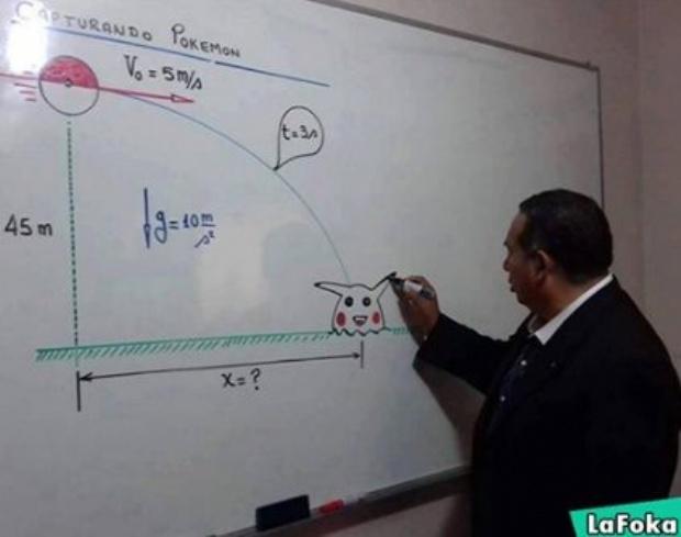 El profesor que enseña física con pokémones