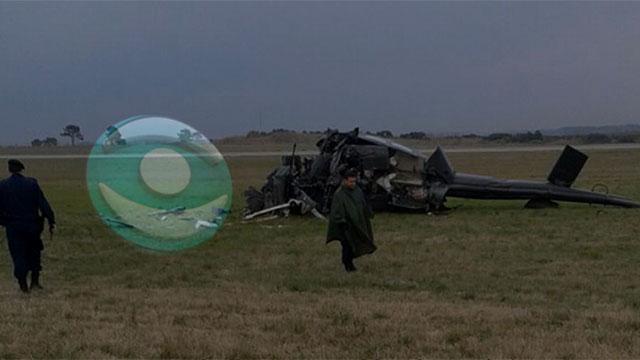 Fallecieron los dos pilotos del helicóptero militar que se estrelló en aeropuerto de Carrasco
