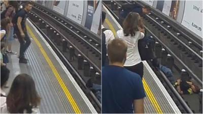 Hombre saltó a las vías del metro de Londres para salvar una vida; no encuentran al héroe anónimo