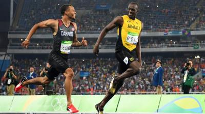 """""""¿Qué hacés?"""": La impresionante ironía de Bolt a De Grasse antes de cruzar la meta en los 200 metros"""