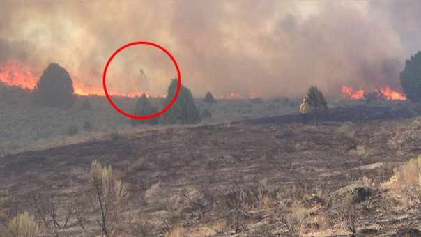 Fotografían un 'fantasma' en medio de un incendio en EE.UU.